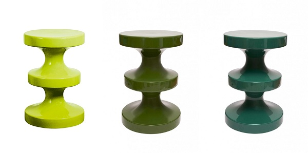 Tabouret Bishop vert ceramique India Mahdavi