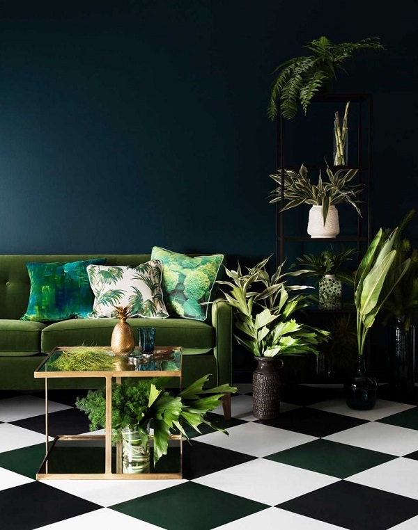green vert greenery bleu petrole