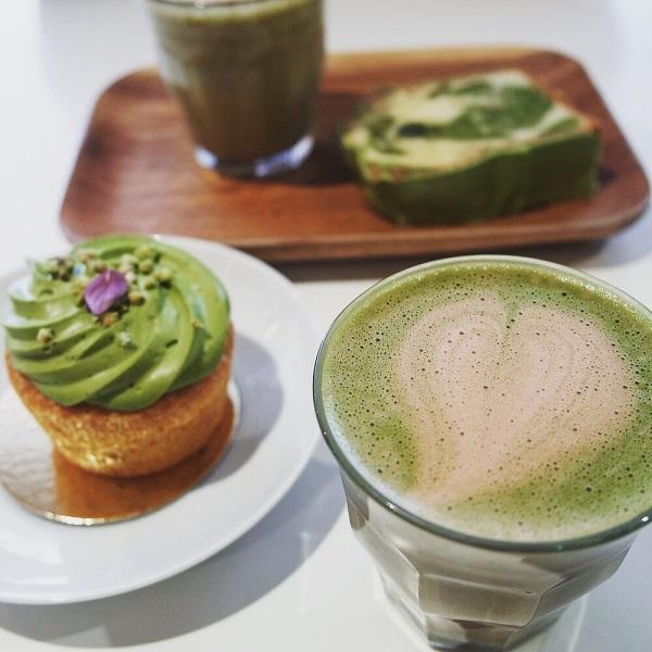 matcha latte umami vert green