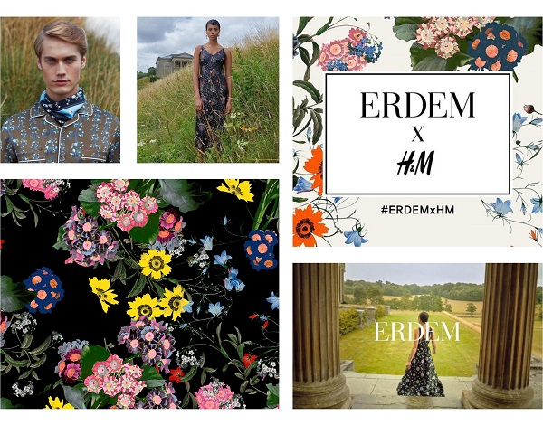 collaboration erdem x h&m collection capsule