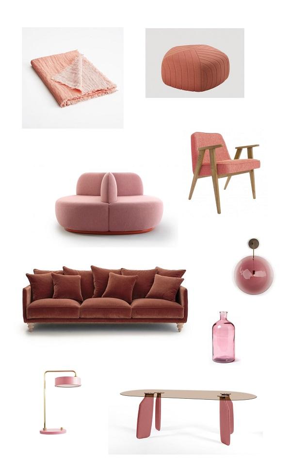 shopping pink rose deco design
