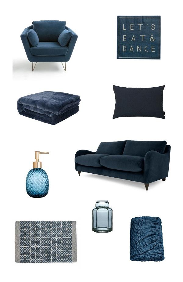shopping bleu nuit deco design automne hiver