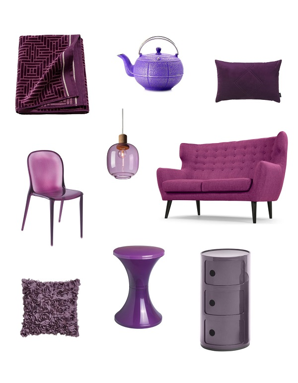 shopping violet purple mobilier deco design kartell tam tam mariage frères
