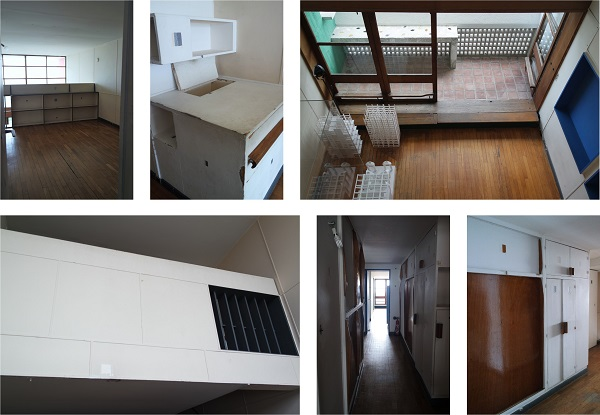 le corbusier appartement cite radieuse vintage chambre parentale