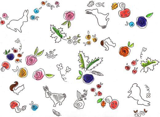 lapin ecureuil champignon automne