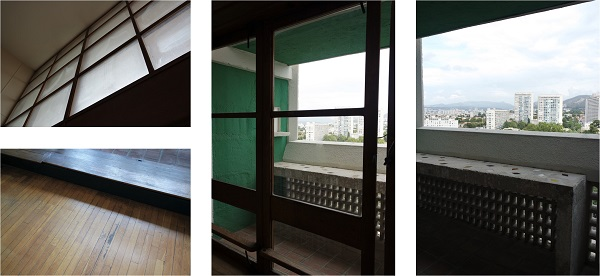 le corbusier appartement cite radieuse vintage loggia