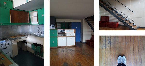 le corbusier appartement cite radieuse vintage