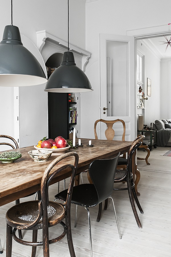 deco style kinfolk dining room
