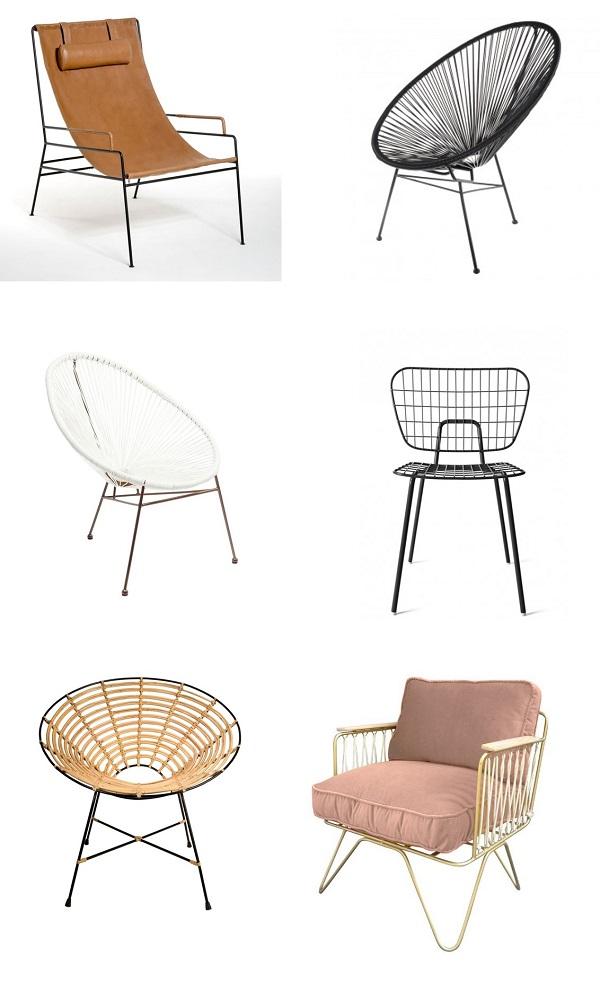 tendance filaire chaises fauteuils acapulco la redoute
