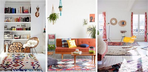 style deco kinfolk couleurs tapis kilim