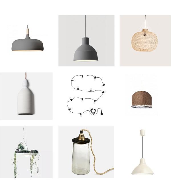 kinfolk luminaires suspensions lampes guirlandes
