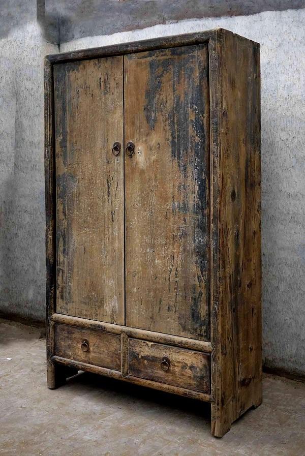wabi sabi wood armoire