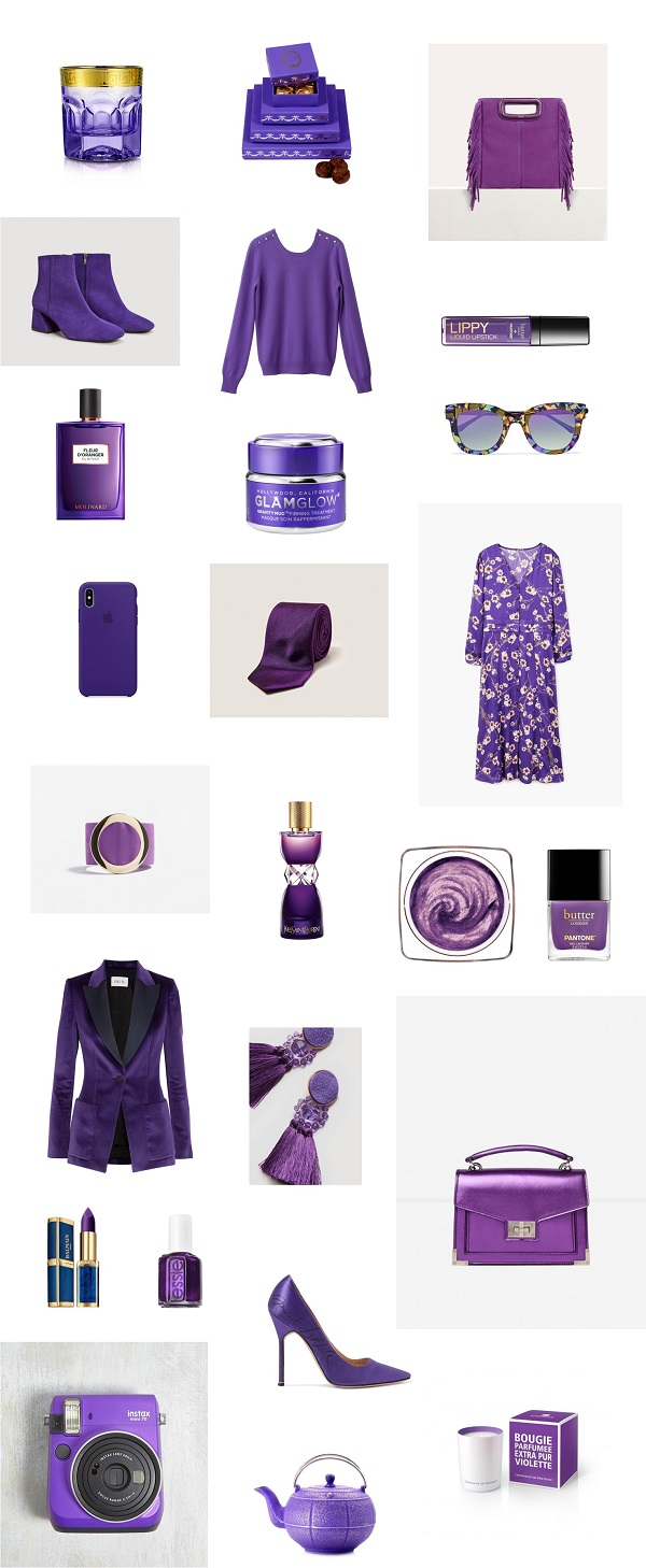 pantone couleur ultra violet shopping
